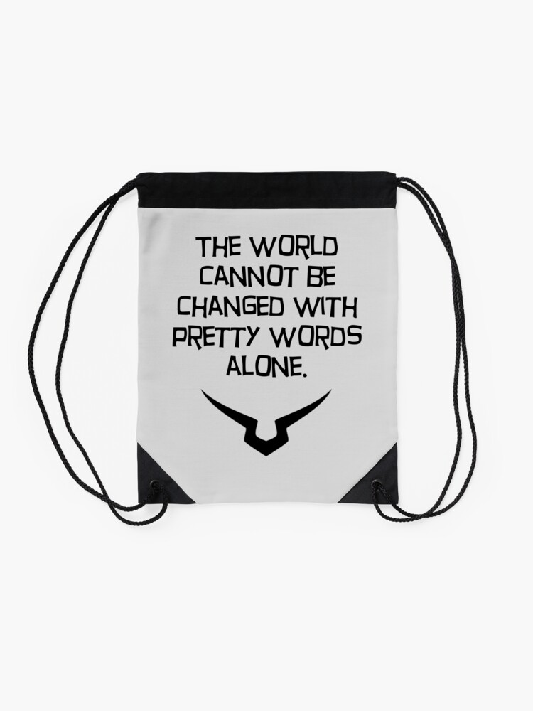 Alternate view of pretty words Drawstring Bag