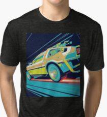 DeLorean- Back to the Future Tri-blend T-Shirt