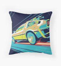 DeLorean- Back to the Future Throw Pillow