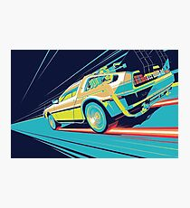 DeLorean- Back to the Future Photographic Print