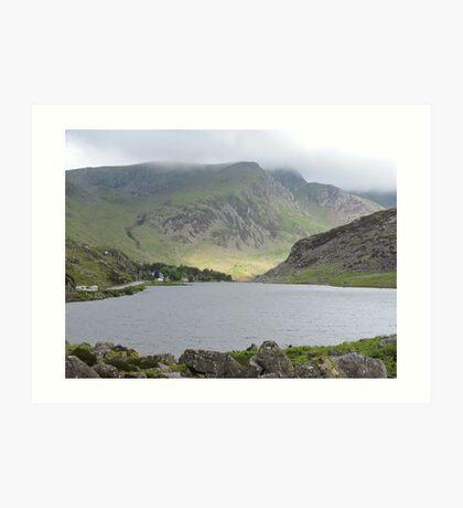 Sunlight on Welsh Mountains Art Print