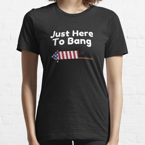 Swinger Just here to bang Swingers Party Sharing Swapping Essential T-Shirt