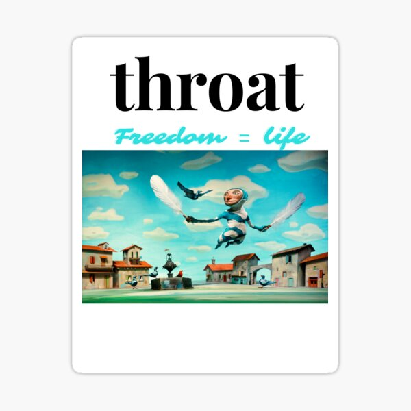 throat- Sticker