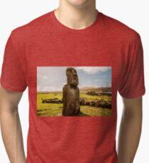 Easter Island Moai  Tri-blend T-Shirt