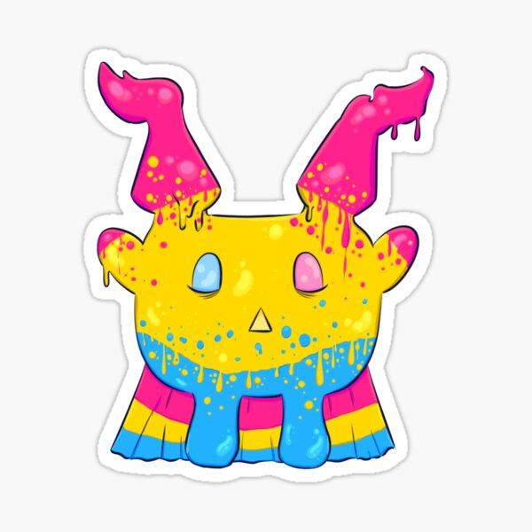 Goilo Jelly Monster - Pan Flag Sticker