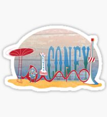 Coney Island Sticker