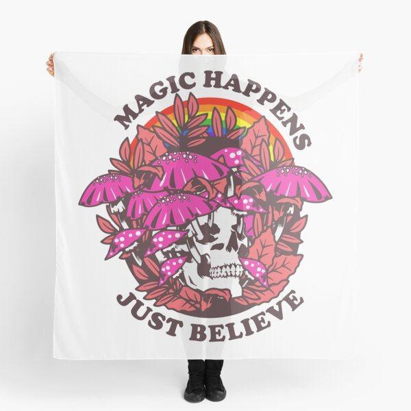 magic happens just believe - trippy sayings Scarf