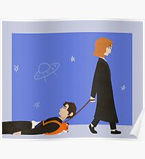 Dana Scully and Fox Mulder Poster