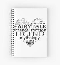 Literary genres Spiral Notebook