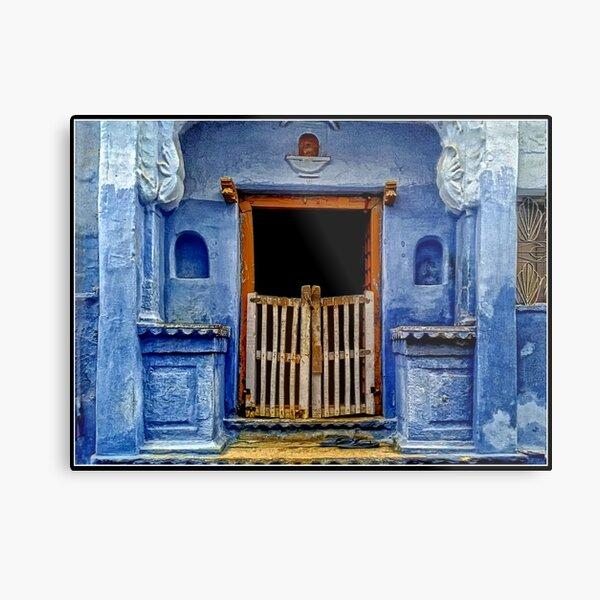 Blue Doorway in Bundi Metal Print