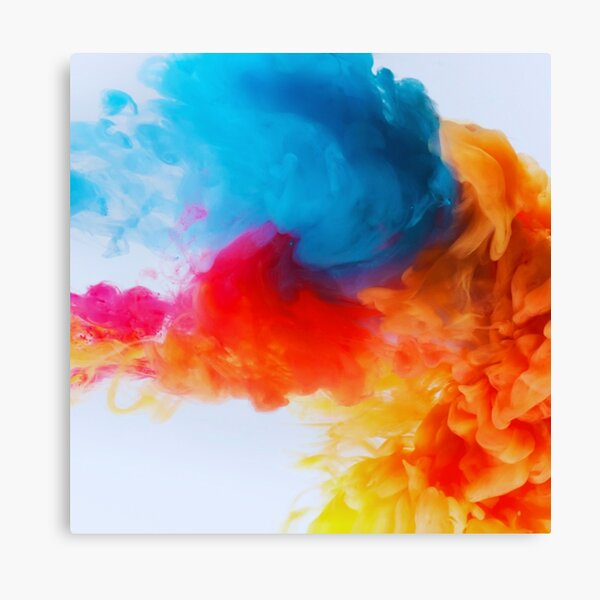 Colored Smoke Canvas Print