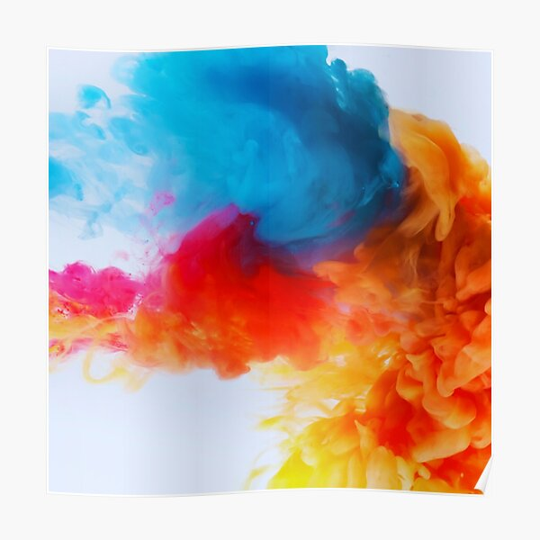 Colored Smoke Poster