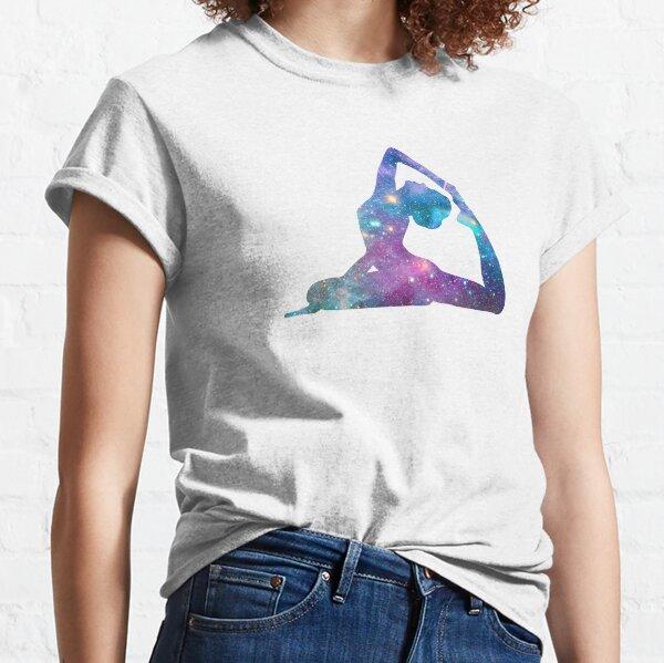 Cosmic Yoga Asana 2 - Galaxy King Pigeon Pose  Classic T-Shirt