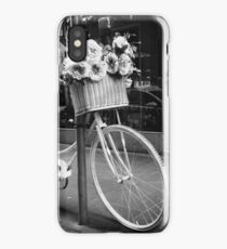 A basket of flowers and a bike iPhone Case/Skin