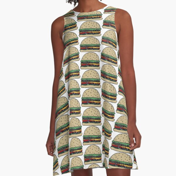 Mushroom burger A-Line Dress