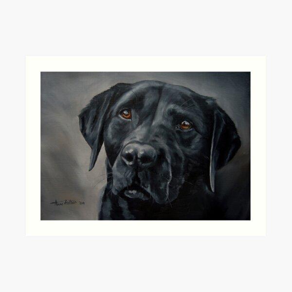 Black Beauty - labrador retriever Art Print