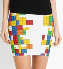 Lego - seamless vector pattern of plastic parts Mini Skirt