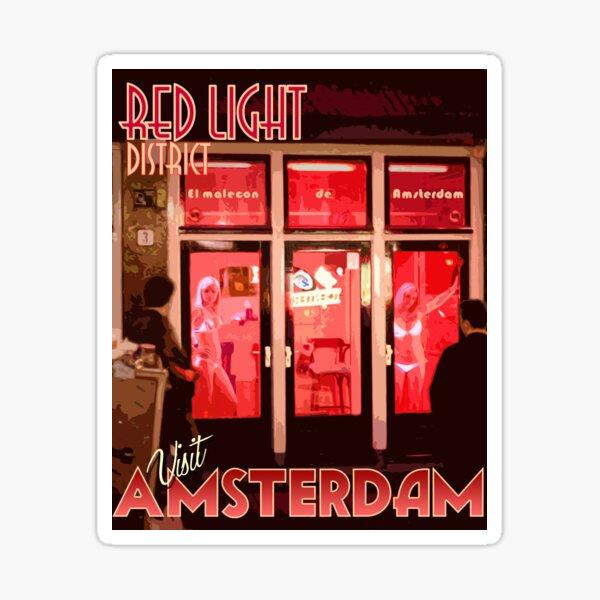 Visit Amsterdam Red Light District  Sticker
