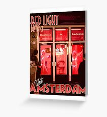 Visit Amsterdam Red Light District  Greeting Card