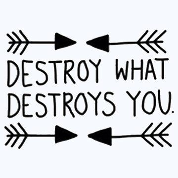 Destroy What Destroys You by kooliokatz