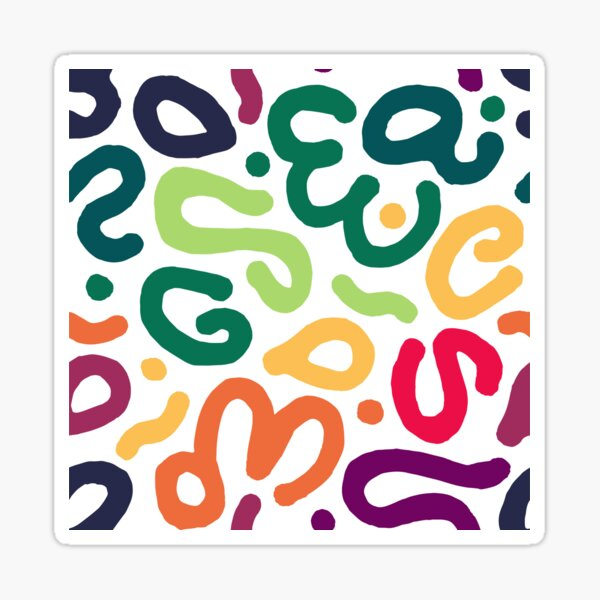 Bold Rainbow Abstract Pattern Shapes Sticker