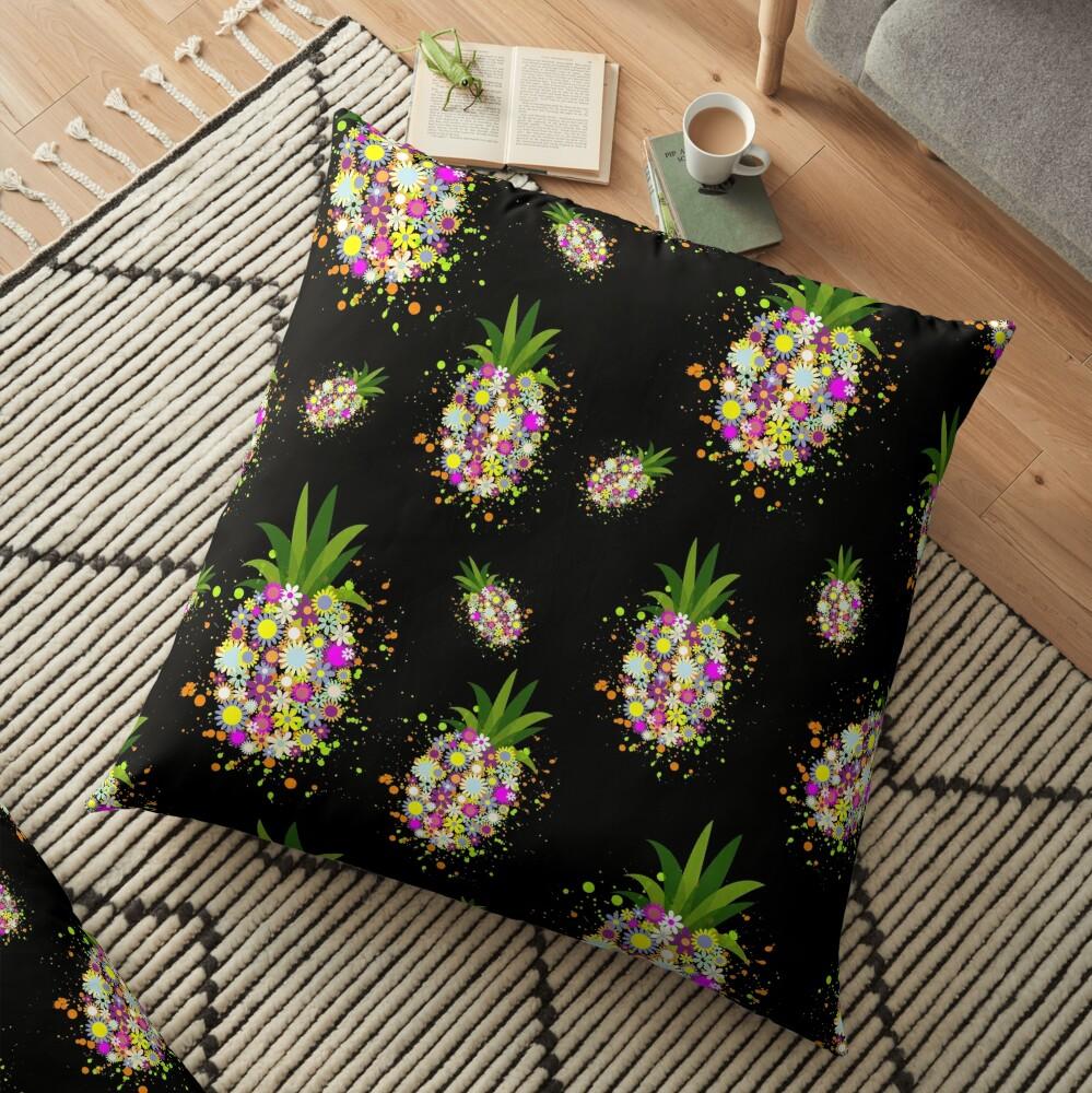 Positive Pineapple Floor Pillow