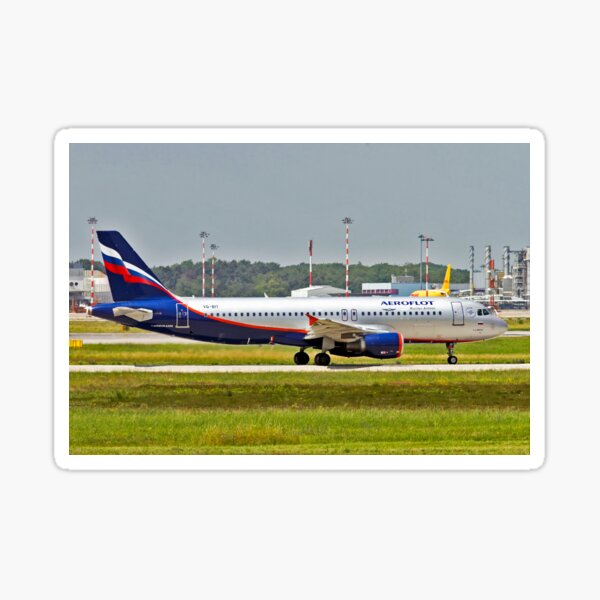 NEW NOUVEAU A320neo URAL AIRLINES RUSSIA STICKER AUTOCOLLANT AIRBUS