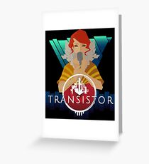 Transistor red Greeting Card