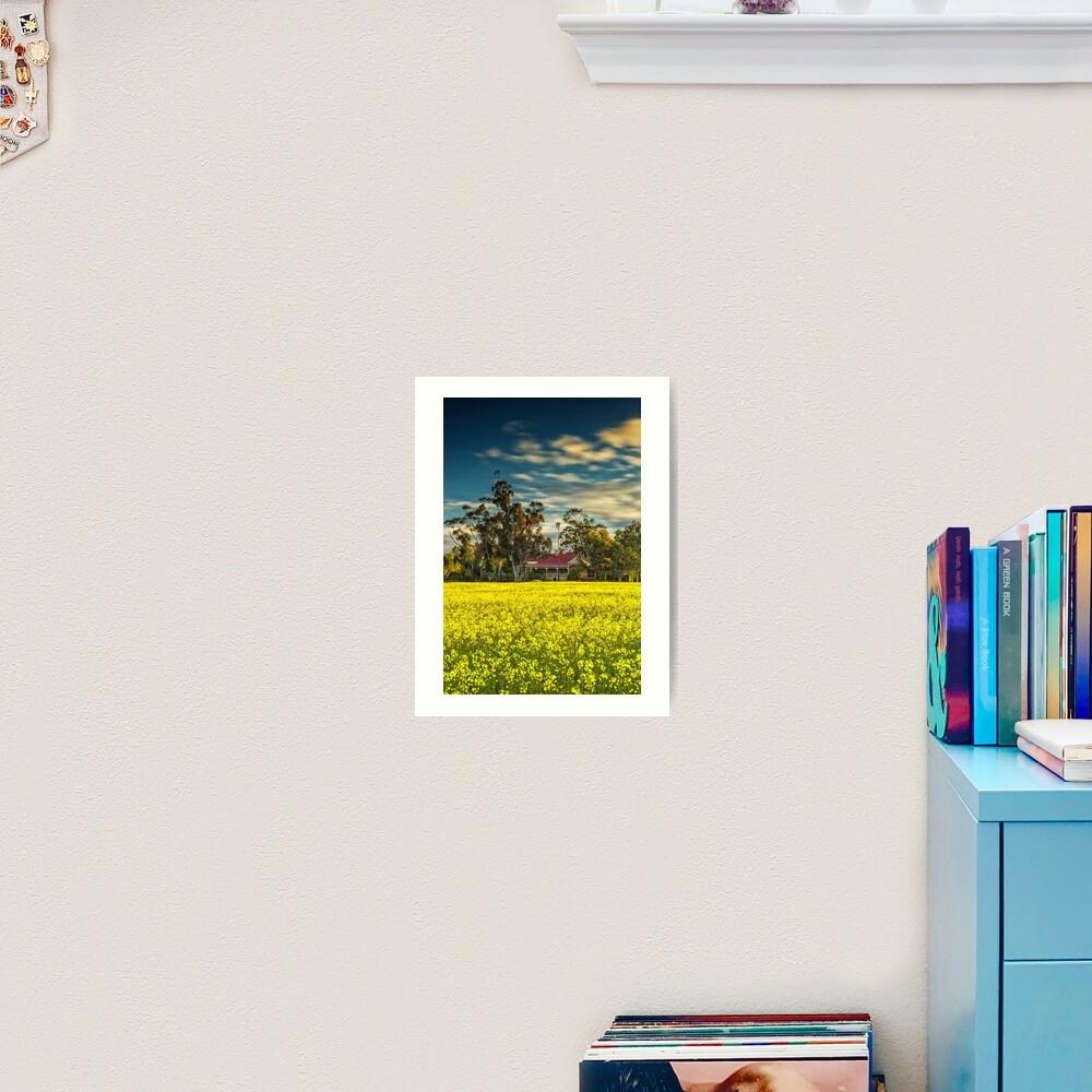Hillside Farmhouse Art Print