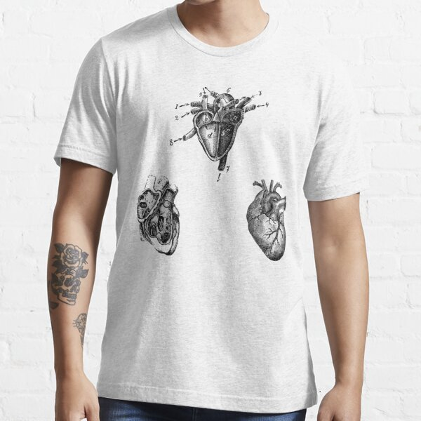Vintage Heart Anatomy Essential T-Shirt