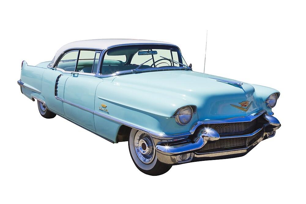 1956 Sedan Deville Cadillac Luxury Car by KWJphotoart