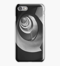 Modern staircase in black and white iPhone Case/Skin