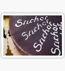 Sachertorte cake Sticker