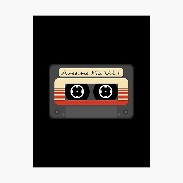 Awesome Mix Vol. 1 Cassette Tape Photographic Print