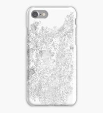 Polymer crystallization, pen and ink on paper iPhone Case/Skin