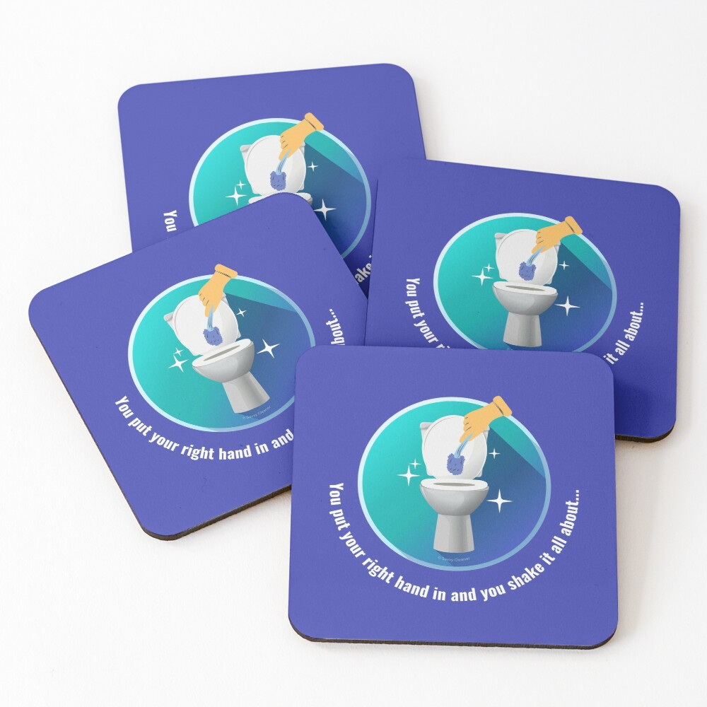 You Put Your Right Hand In And You Shake It All About Toilet Fun Coasters (Set of 4)