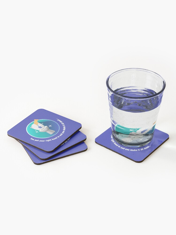 Alternate view of You Put Your Right Hand In And You Shake It All About Toilet Fun Coasters (Set of 4)