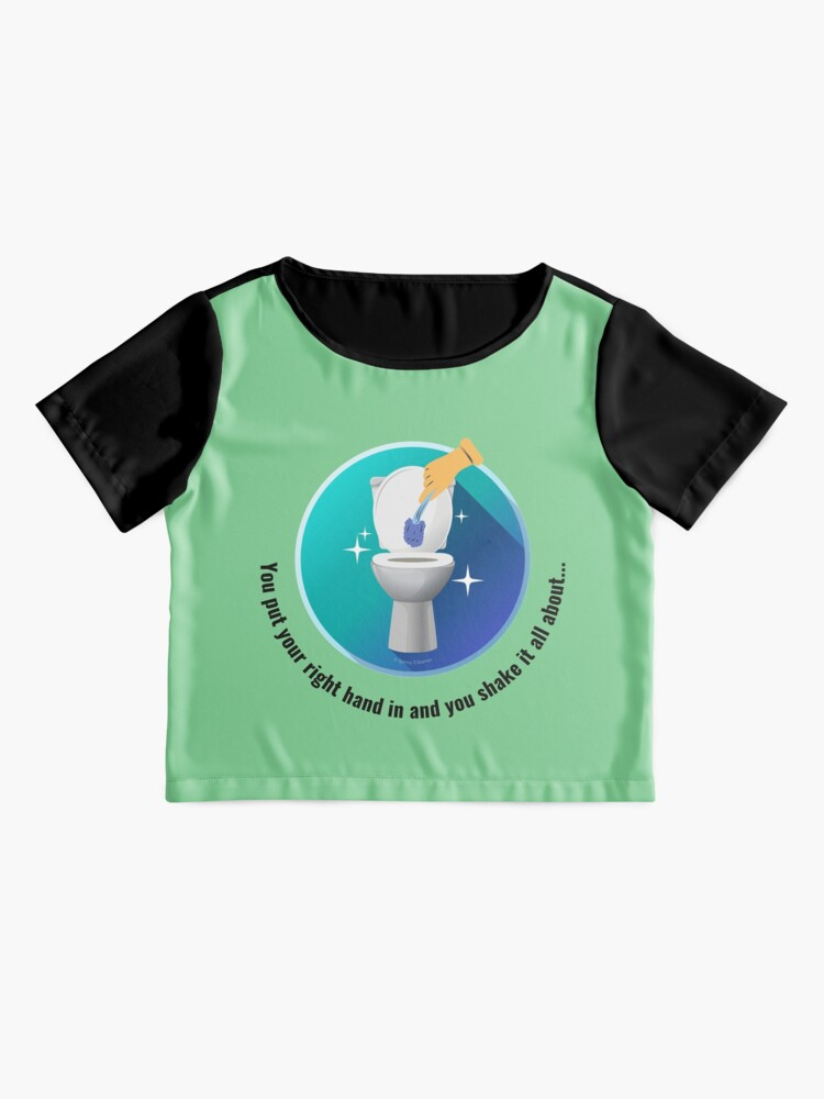 Alternate view of You Put Your Right Hand In And You Shake It All About Toilet Fun Chiffon Top