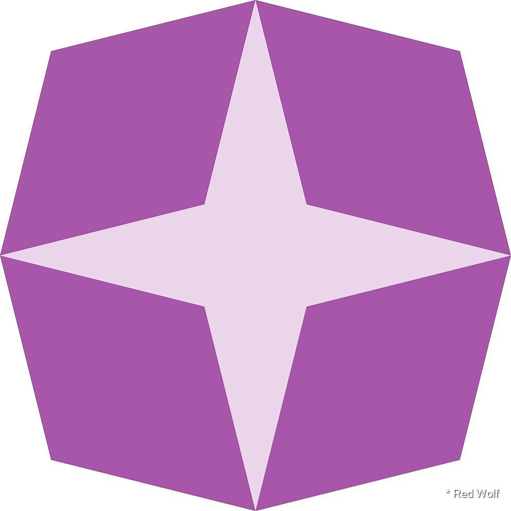 Geometric Pattern: Diamond Star: Light Purple by * Red Wolf