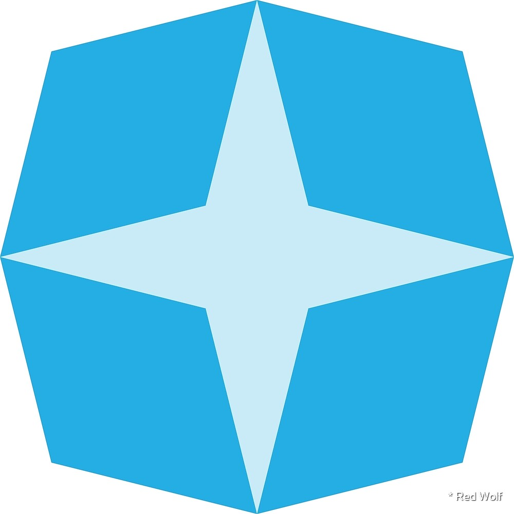 Geometric Pattern: Diamond Star: Light Blue by * Red Wolf