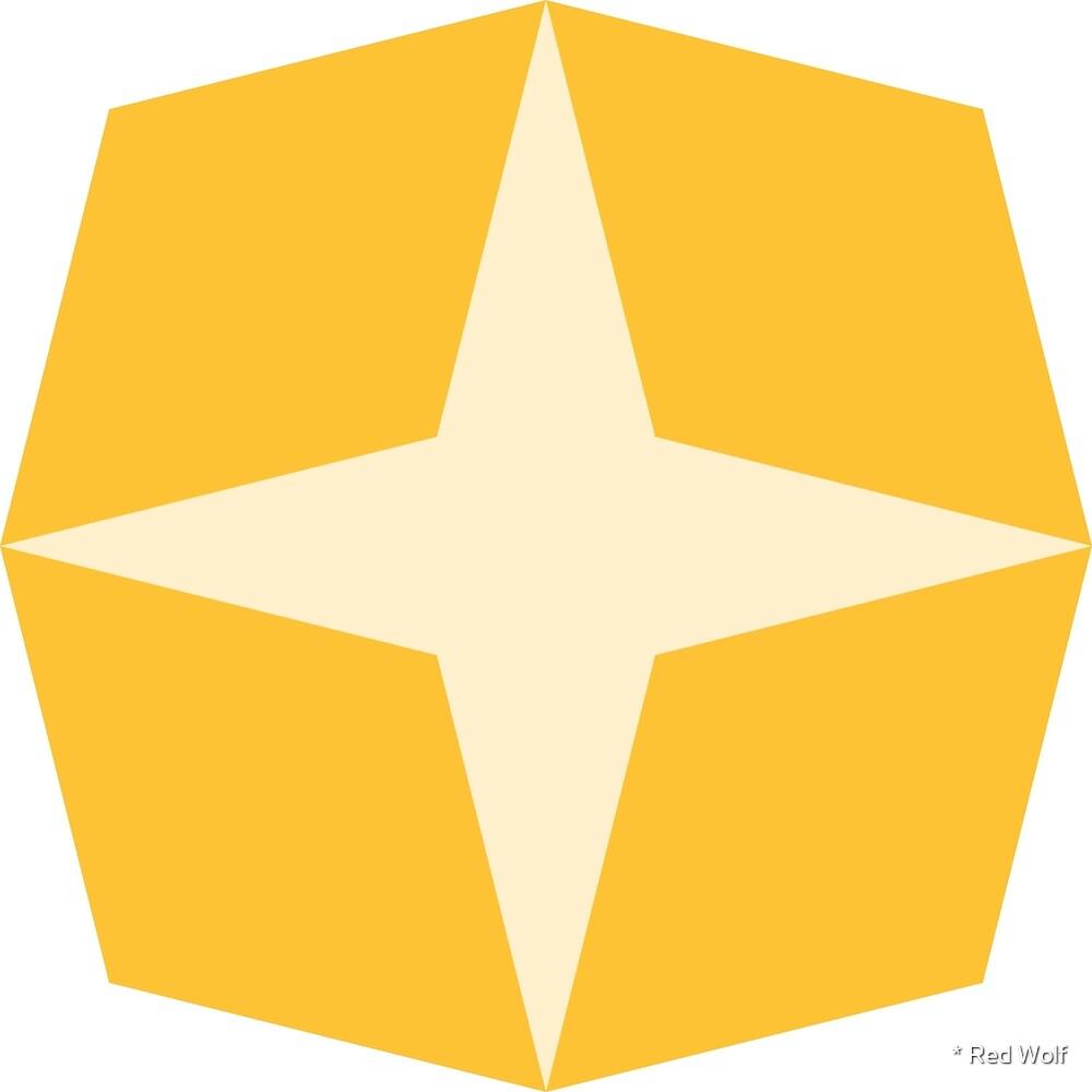 Geometric Pattern: Diamond Star: Light Yellow by * Red Wolf