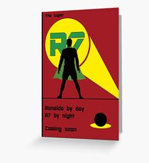 The super R7 Greeting Card