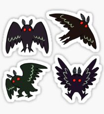 Mothman Stickers - Set of 4 Sticker