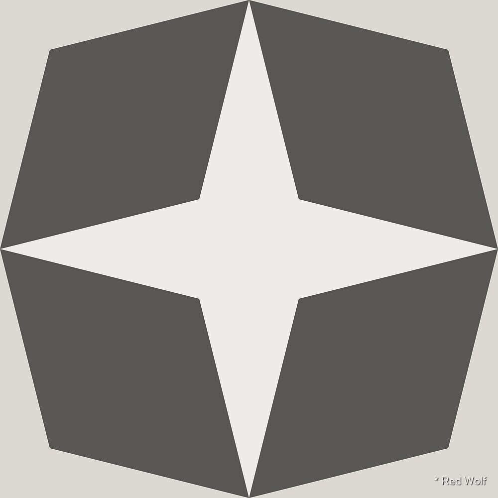 Geometric Pattern: Diamond Star: Slate by * Red Wolf