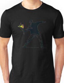 BANKSY - RAGE FLOWER THROWER Unisex T-Shirt