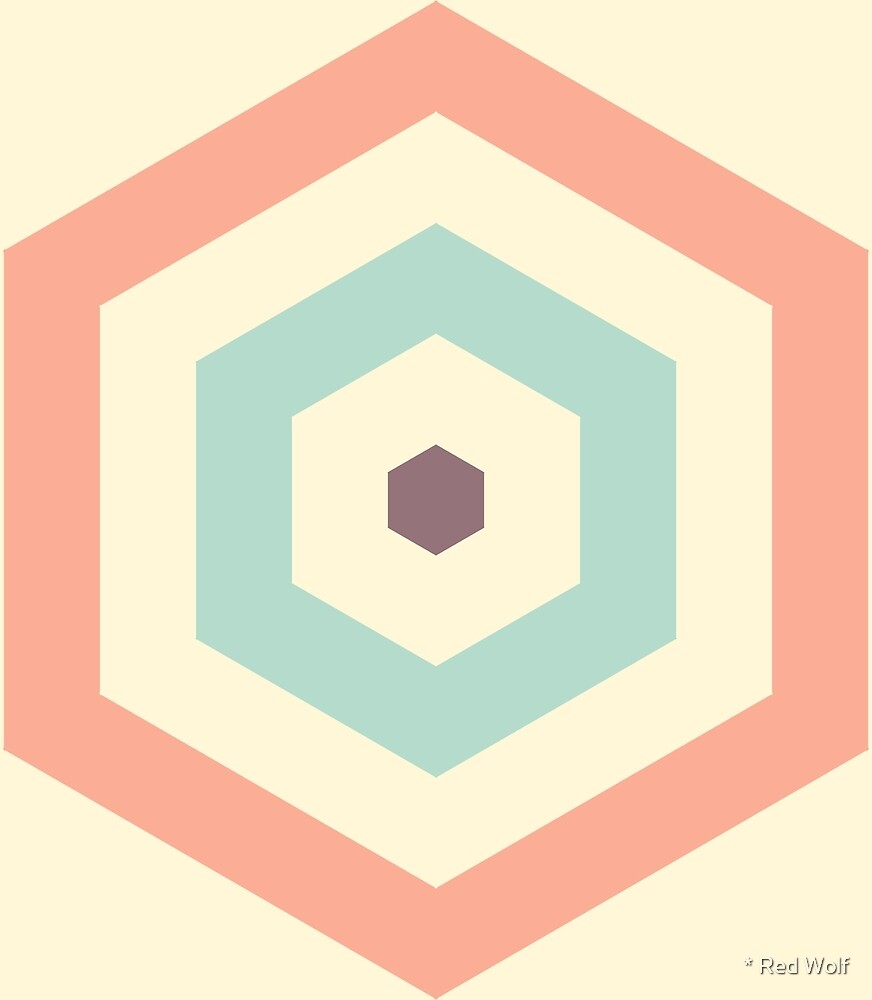 Geometric Pattern: Hexagon Hive: Carla Babcock by * Red Wolf