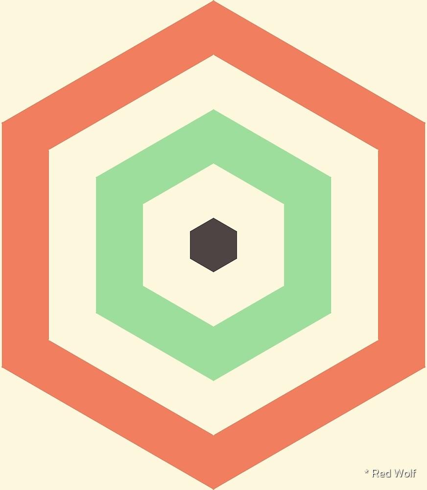 Geometric Pattern: Hexagon Hive: Hub by * Red Wolf