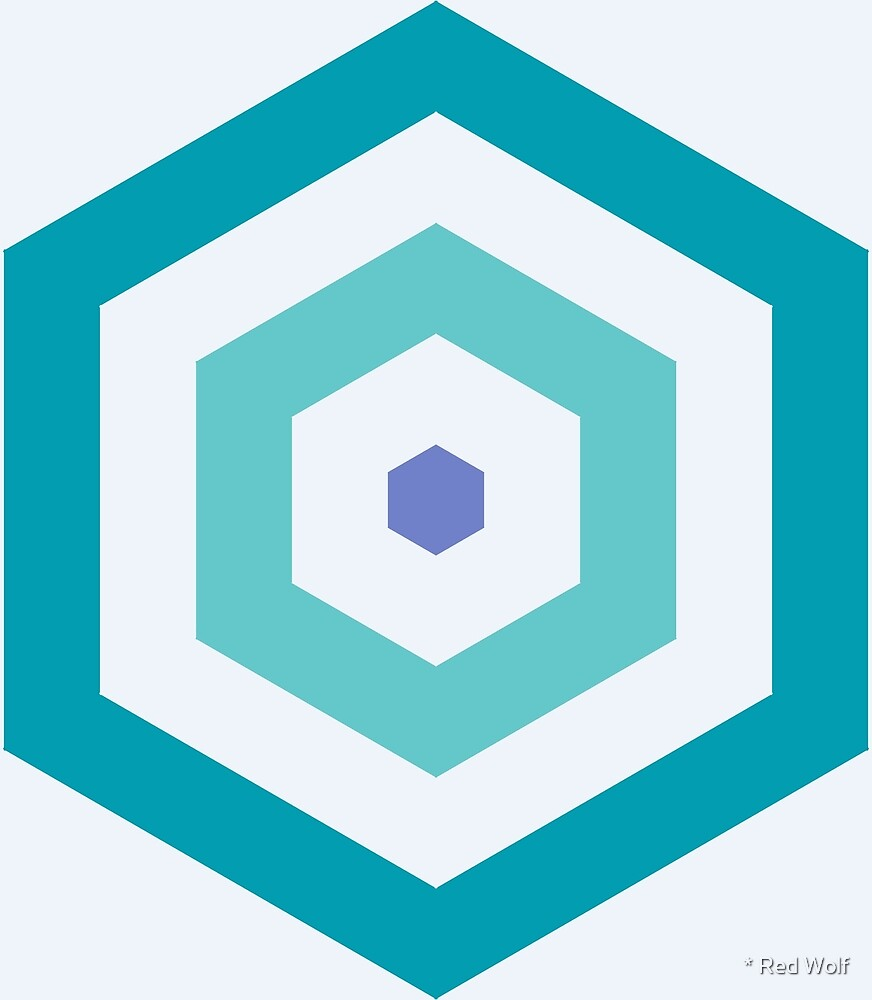 Geometric Pattern: Hexagon Hive: Pacifica by * Red Wolf