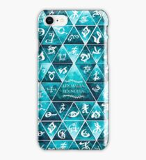 Blackthorn Family Motto Mosaic iPhone Case/Skin