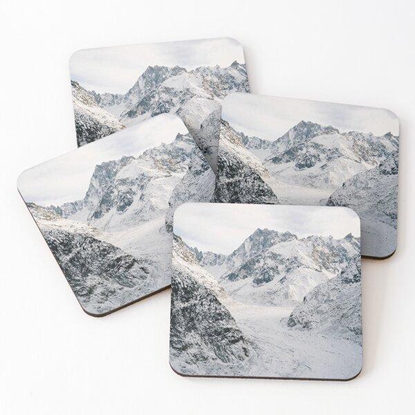 Mer De Glace Glacier, Chamonix Mont-Blanc Coasters (Set of 4)
